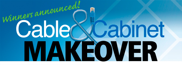 Winners announced! Cable & Cabinet Makeover.