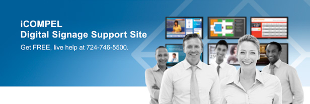 iCOMPEL Digital Signage Support Site