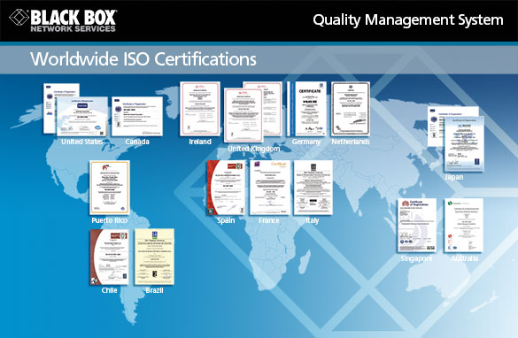 Black Box ISO-9001-2008 Certifications
