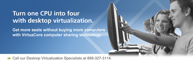 Turn one CPU into four with desktop virtualization.