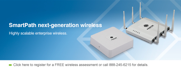 SmartPath next-generation wireless. Get enterprise-class wireless at half the cost.