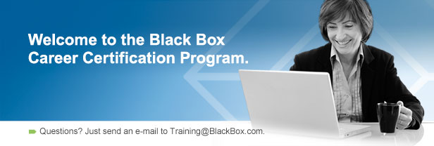 Welcome to the Black Box Career Certification Program.